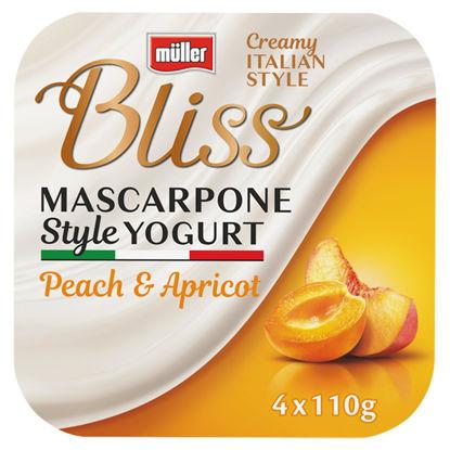 Picture of Müller Bliss Macarpone Peach & Apricot Yogurt 4 x 110g