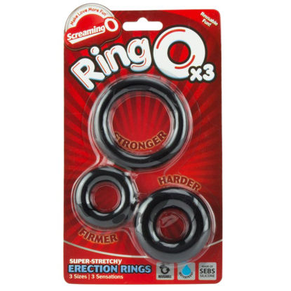 Picture of Screaming O Ring O x 3 Black Cockrings