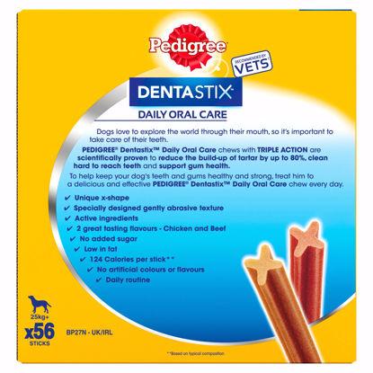 Picture of Pedigree Dentastix Daily Oral Care Dental Chews, Large Dog 56 Sticks