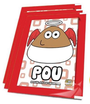 Picture of Pou-Sticker Collection  - Pack Of 6