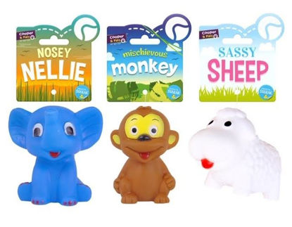 Picture of Cooper & Pals Squeaky Zoo Animals Dog Toy - Assorted Shapes