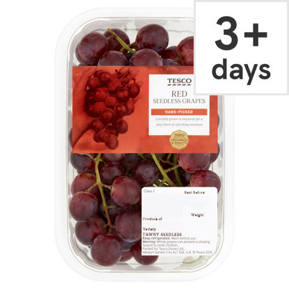 Picture of Tesco Red Seedless Grapes Punnet 500G