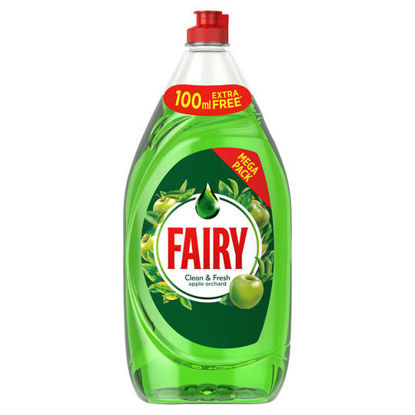 Picture of Fairy Clean & Fresh Washing Up Liquid Apple 1290ML
