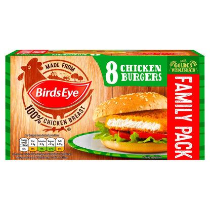 Picture of Birds Eye 8 Chicken Burgers with Golden Wholegrain 400g