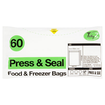 Picture of TIDYZ PRESS & SEAL 60 FOOD & FREEZER BAGS