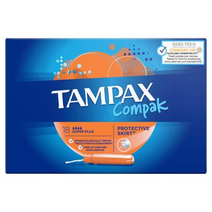 Picture of Tampax Compak Super Plus Tampons Applicator 18X