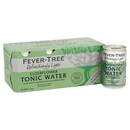 Picture of Fever-Tree Refreshingly Light Elderflower Tonic Water 8 x 150ml