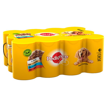 Picture of PEDIGREE Dog Food Can Jelly Selection 12 x 385 g (Pack of 2)