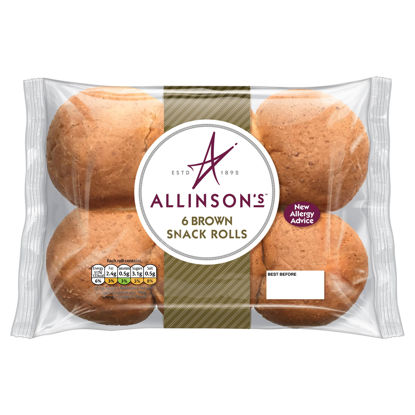 Picture of Allinson's 6 Brown Snack Rolls