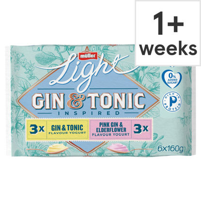 Picture of Muller Light Gin & Tonic 6 X 160G