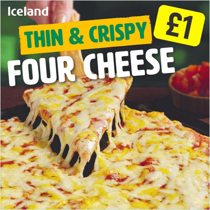 Picture of Iceland Thin & Crispy Four Cheese 300g