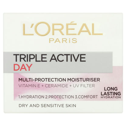 Picture of L'oreal Paris Triple Active Day Dry Moisutriser 50Ml