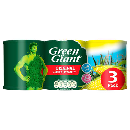 Picture of Green Giant Original Sweetcorn 3 x 198g