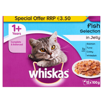 Picture of Whiskas Pouch Fisherman Jelly 12X100g P M 3.50