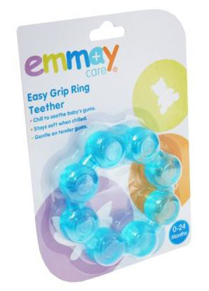 Picture of Emmay Easy Grip Ring Teether - Blue And Pink - Colours May Vary
