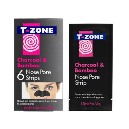 Picture of T-Zone Charcoal & Bamboo Nose Pore Strips 6s
