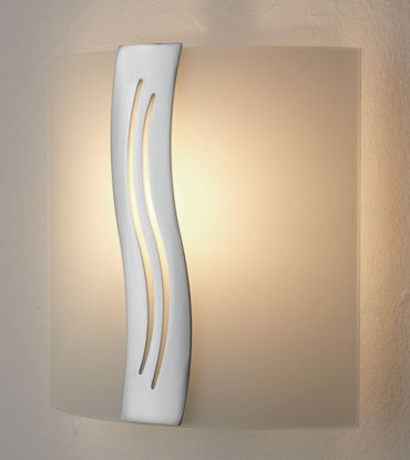 Picture of Argos Home Oasis Wall Light - Glass and Chrome
