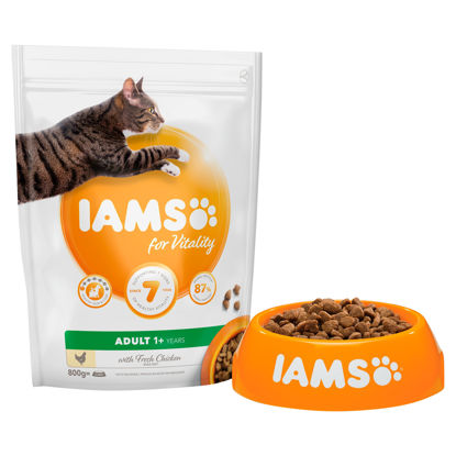 Picture of Iams Adult 1+ Cat Food With Fresh Chicken 800G