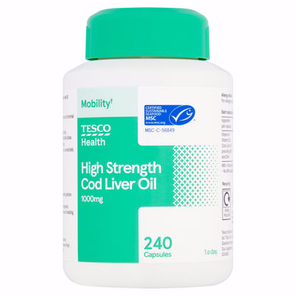 Picture of Tesco Cod Liver Oil 1000Mg 240'S