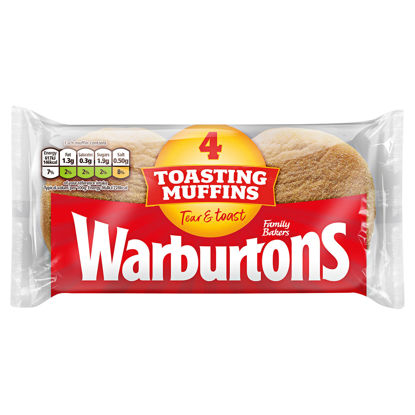 Picture of Warburtons Muffins 4 Pack