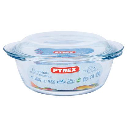Picture of Pyrex 1.6 Litre Round Borosilicate Glass Casserole
