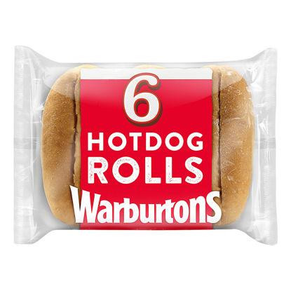 Picture of Warburtons 6 Sliced Hotdog Rolls