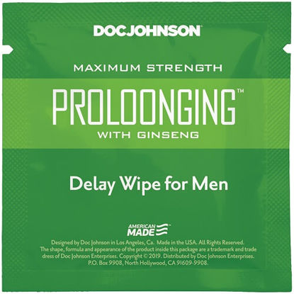 Picture of Doc Johnson Prolong with Ginseng Delay Wipe for Men
