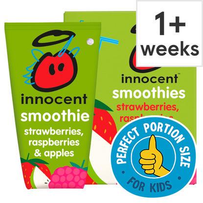 Picture of Innocent Kids Strawberry Raspberry & Apple 4X150ml