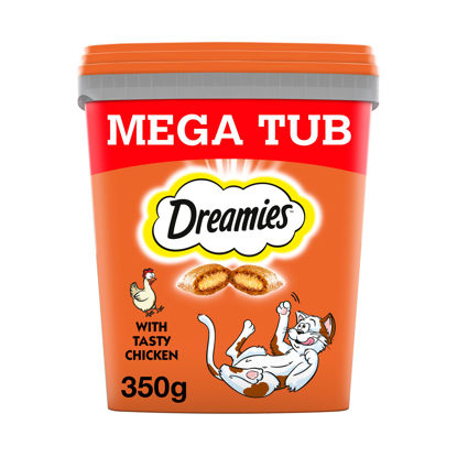 Picture of Dreamies Bulk Chicken Cat Treats Tub 350G