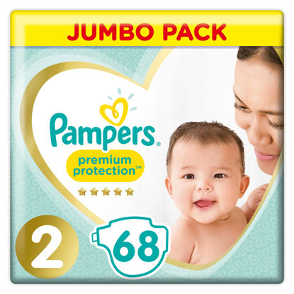 Picture of Pampers New Baby Size 2 Mini 3-6kg Jumbo Pack 68 Nappies