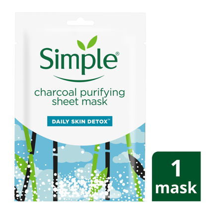 Picture of Simple Daily Skin Detox Sheet Mask Purifying Charcoal 21ml