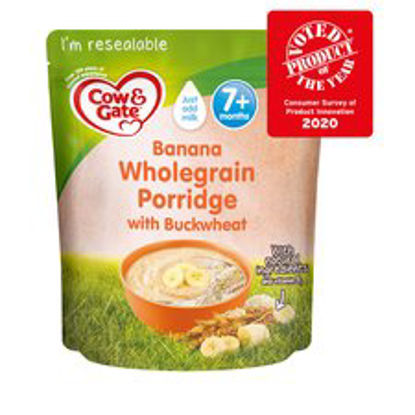 Picture of Cow & Gate Banana Wholegrain Porridge Baby Cereal From 7 Month 200G