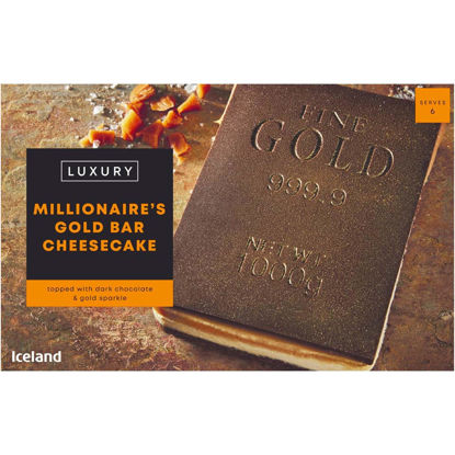 Picture of Iceland Luxury Millionaire's Gold Bar Cheesecake 652g
