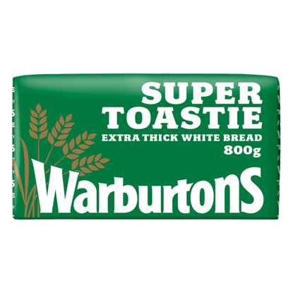 Picture of Warburtons Super Toastie Extra Thick Sliced Soft White Bread 800g