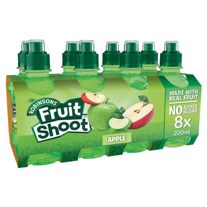 Picture of Robinsons Fruit Shoot Apple No Added Sugar 8X200ml